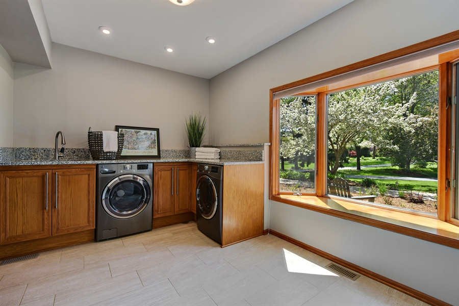 Real Estate Photography - 3929 Forest Fork, Long Grove, IL, 60047 - Laundry Room