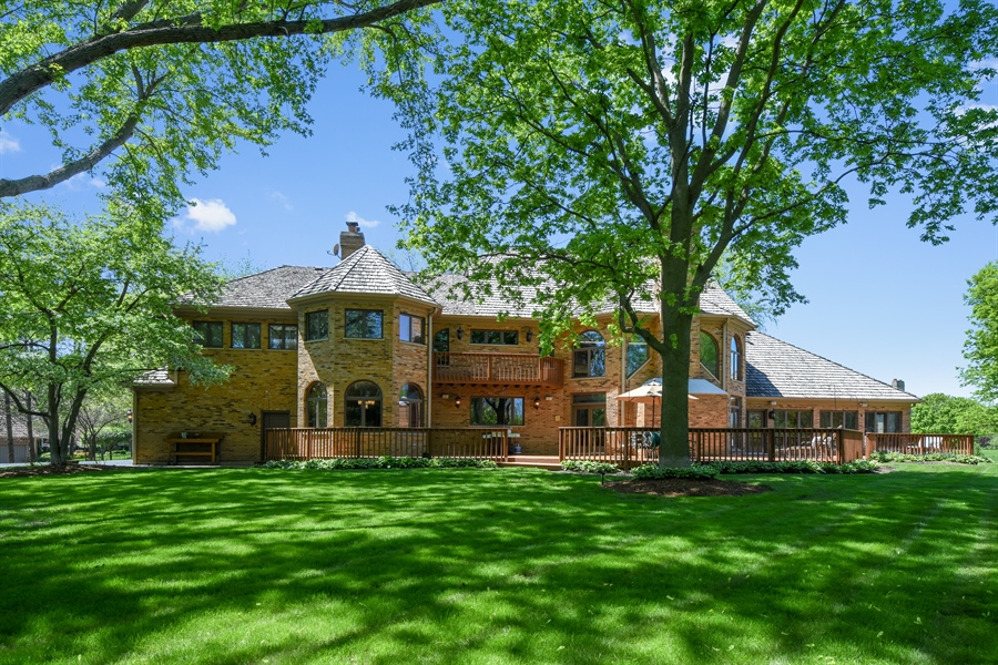 Real Estate Photography - 3929 Forest Fork, Long Grove, IL, 60047 - Rear View