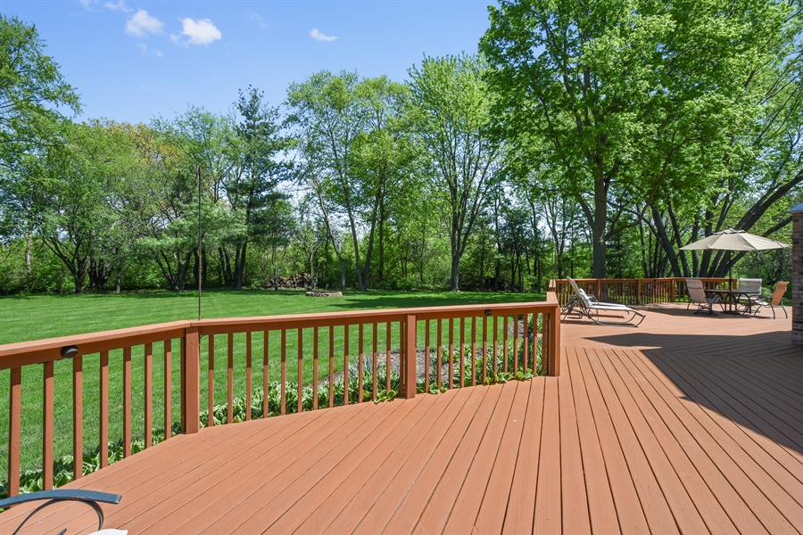 Real Estate Photography - 3929 Forest Fork, Long Grove, IL, 60047 - Deck