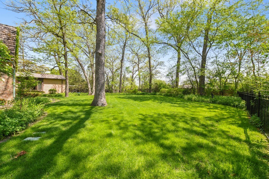 Real Estate Photography - 707 Taft Rd, Hinsdale, IL, 60521 - Back Yard