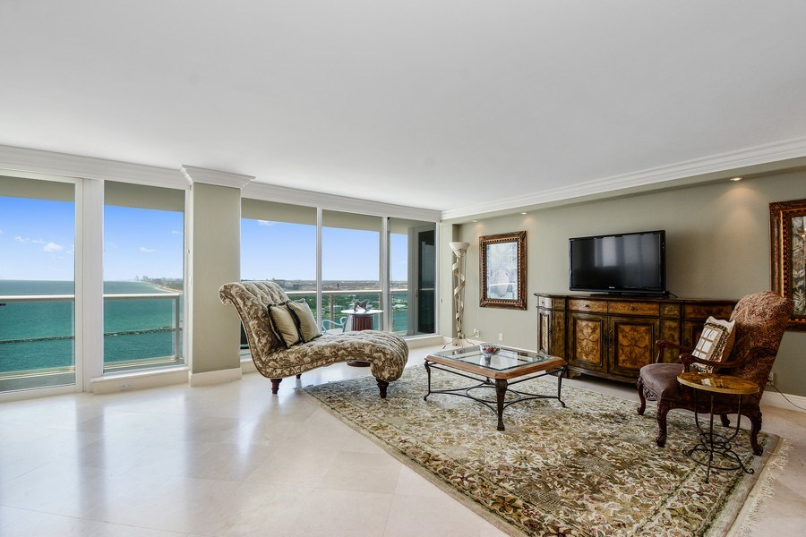 Real Estate Photography - 2100 S Ocean Ln, Unit 1808, Fort Lauderdale, FL, 33316 - Living Room