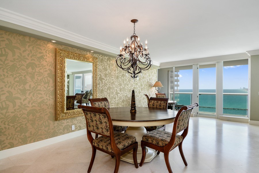 Real Estate Photography - 2100 S Ocean Ln, Unit 1808, Fort Lauderdale, FL, 33316 - Dining Room