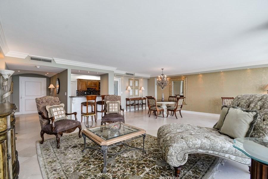 Real Estate Photography - 2100 S Ocean Ln, Unit 1808, Fort Lauderdale, FL, 33316 - Kitchen / Living Room