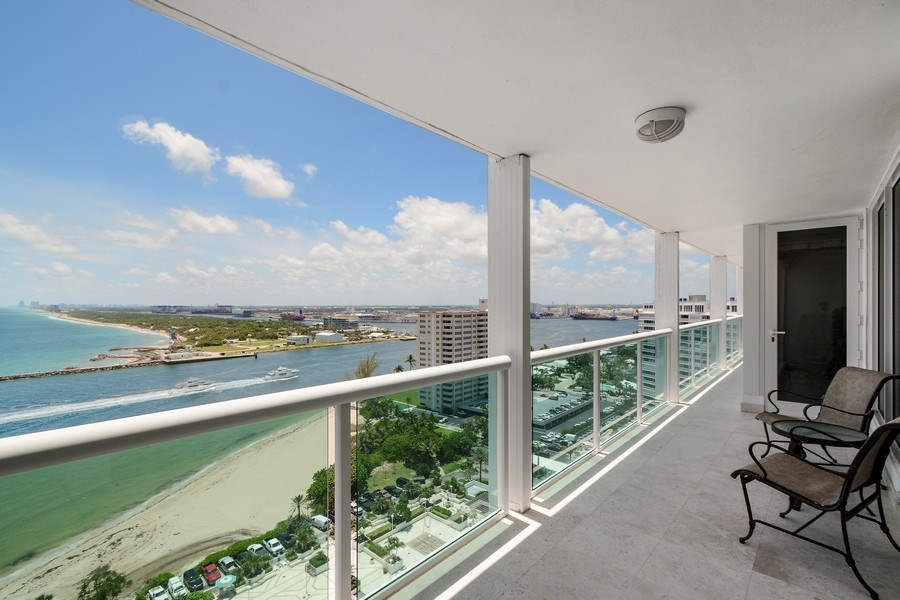 Real Estate Photography - 2100 S Ocean Ln, Unit 1808, Fort Lauderdale, FL, 33316 - Balcony