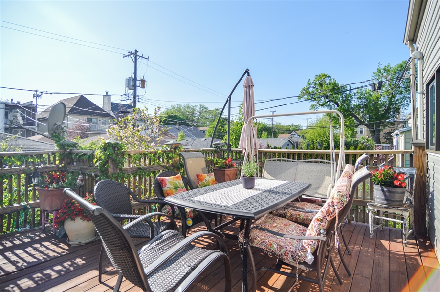 Real Estate Photography - 4022 N Kilbourn Ave, Chicago, IL, 60641 - Deck