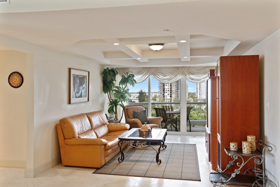 Real Estate Photography - 7000 Island Blvd, Apt 902, Aventura, FL, 33160 - Den_Family room