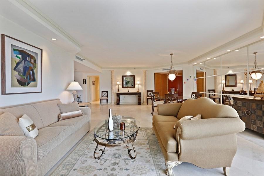 Real Estate Photography - 7000 Island Blvd, Apt 902, Aventura, FL, 33160 - Living Room