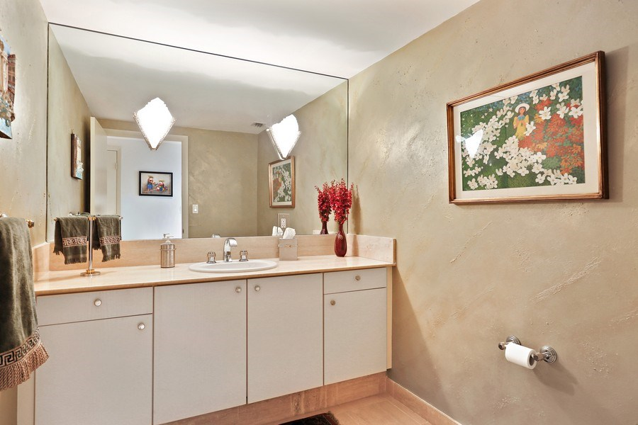 Real Estate Photography - 7000 Island Blvd, Apt 902, Aventura, FL, 33160 - Powder room