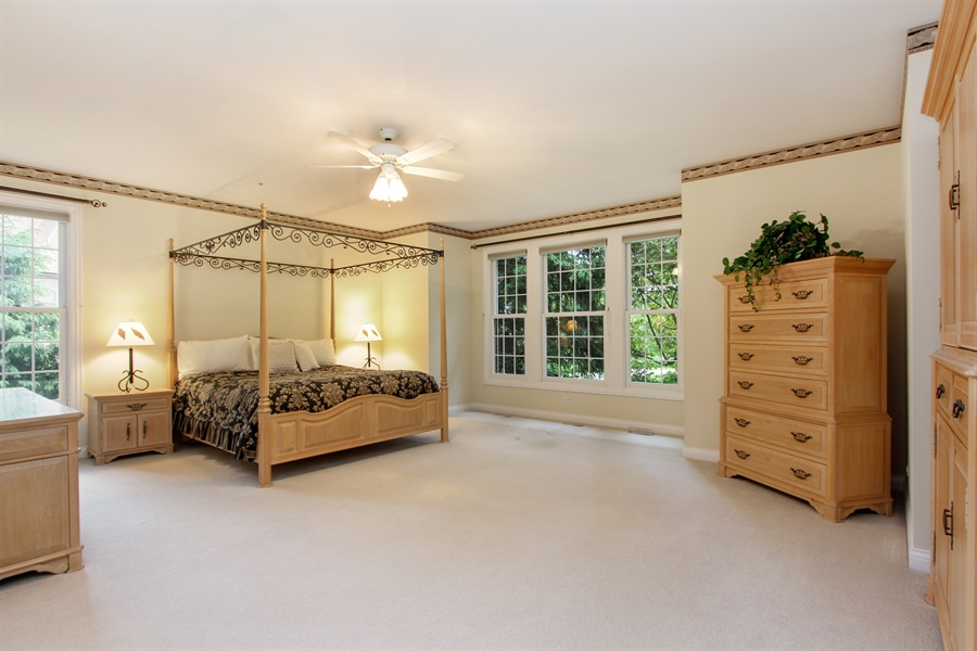 Real Estate Photography - 4760 Doncaster Court, Long Grove, IL, 60047 - Master Bedroom