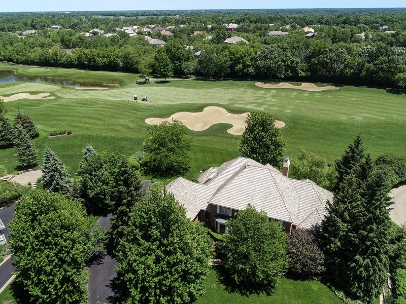 Real Estate Photography - 4760 Doncaster Court, Long Grove, IL, 60047 - 11th Fairway Backyard View