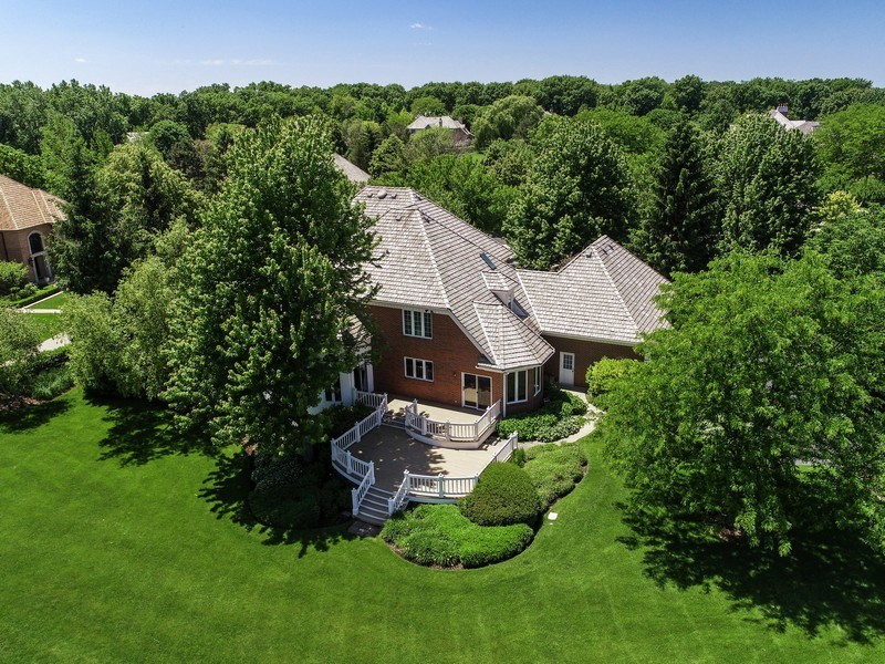 Real Estate Photography - 4760 Doncaster Court, Long Grove, IL, 60047 - Back Aerial View