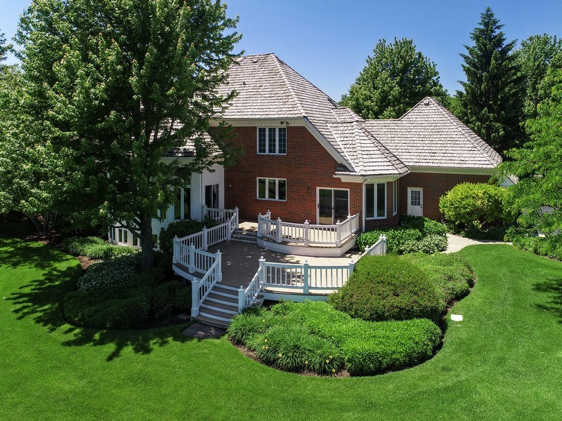 Real Estate Photography - 4760 Doncaster Court, Long Grove, IL, 60047 - Exterior Back