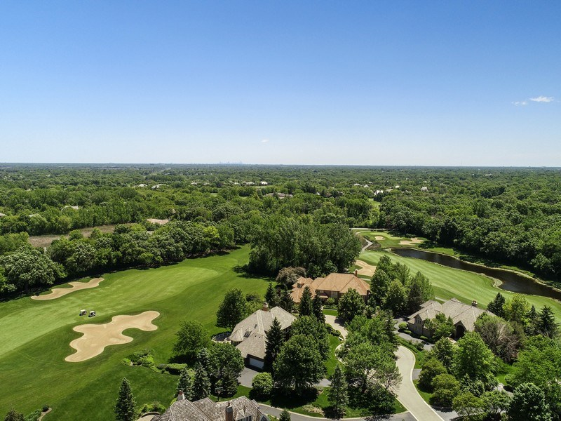 Real Estate Photography - 4760 Doncaster Court, Long Grove, IL, 60047 - Neighborhood Aerial View