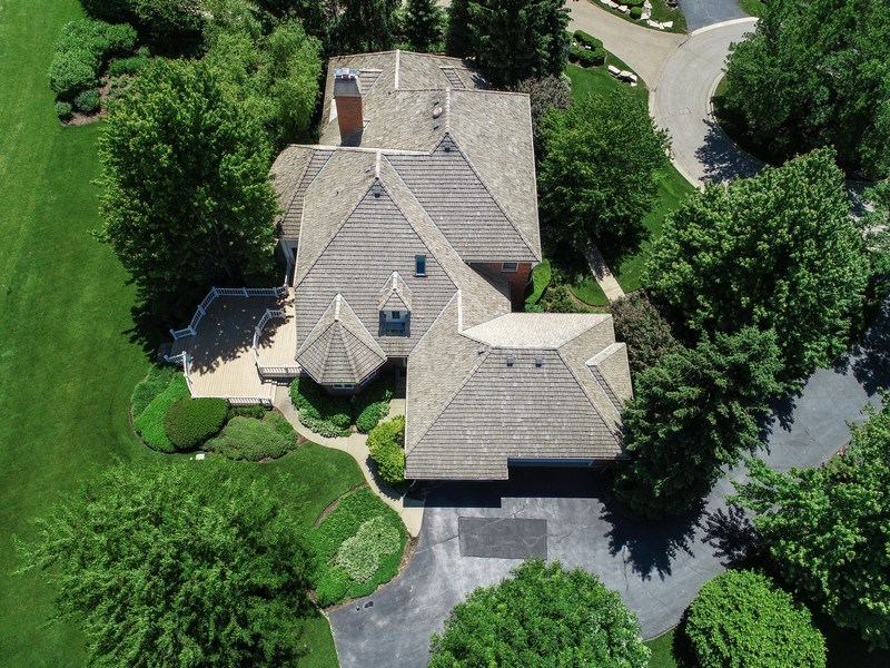 Real Estate Photography - 4760 Doncaster Court, Long Grove, IL, 60047 - Aerial View