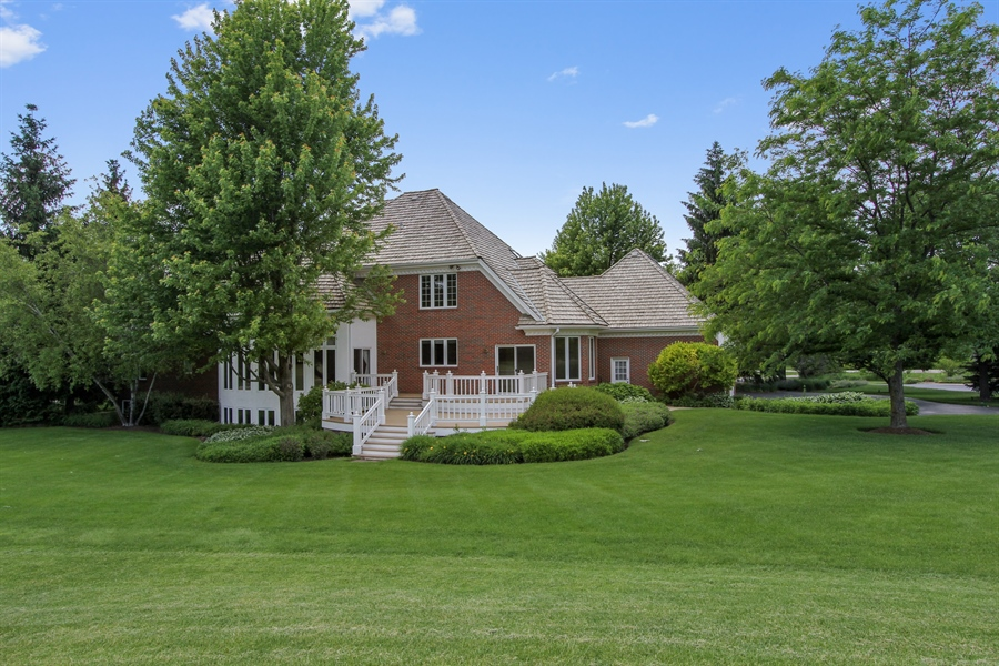 Real Estate Photography - 4760 Doncaster Court, Long Grove, IL, 60047 - Back Yard