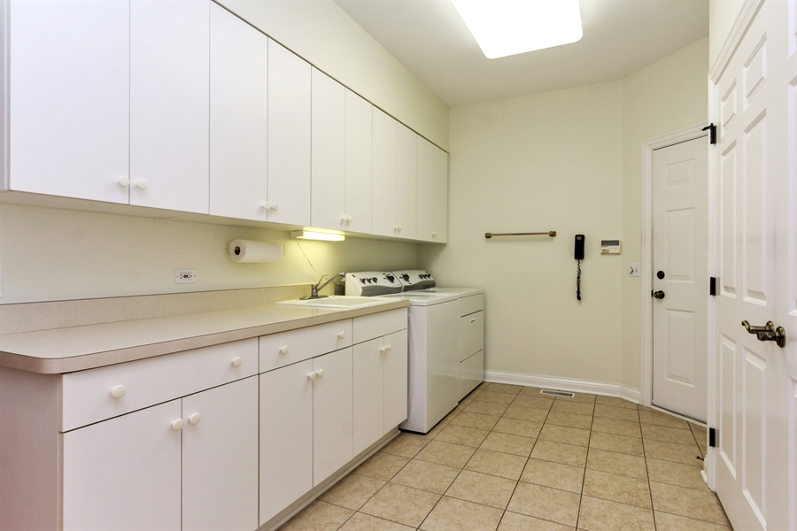 Real Estate Photography - 4760 Doncaster Court, Long Grove, IL, 60047 - Laundry Room