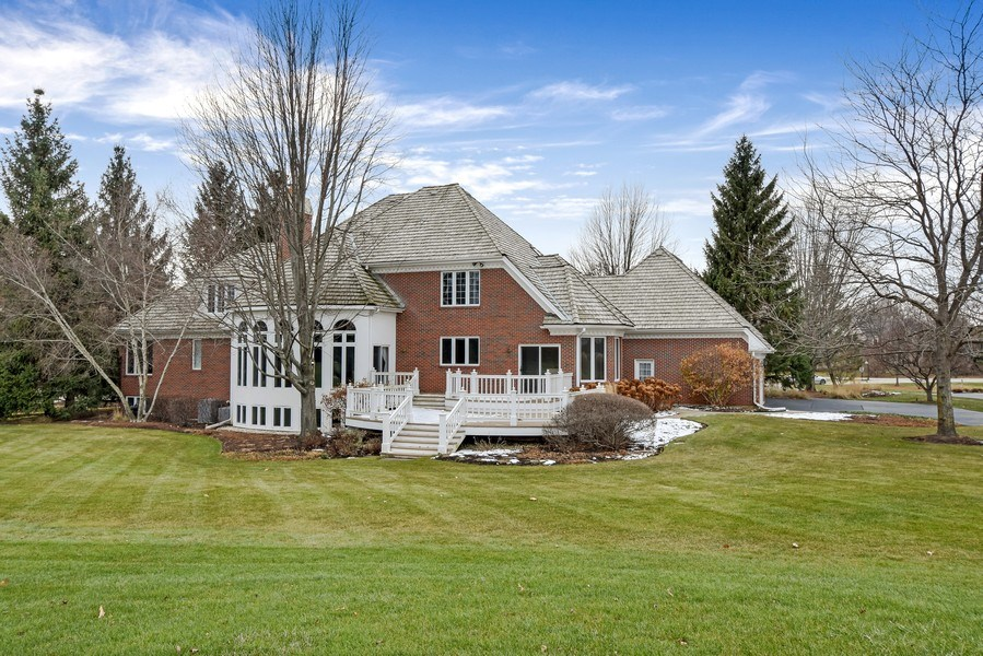 Real Estate Photography - 4760 Doncaster Court, Long Grove, IL, 60047 - Rear View
