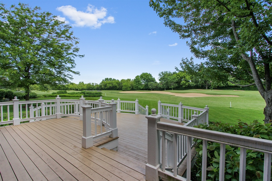 Real Estate Photography - 4760 Doncaster Court, Long Grove, IL, 60047 - Deck w/Fairway View