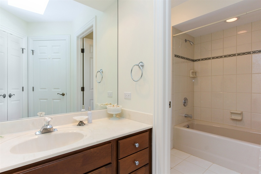 Real Estate Photography - 4760 Doncaster Court, Long Grove, IL, 60047 - 2nd Bathroom