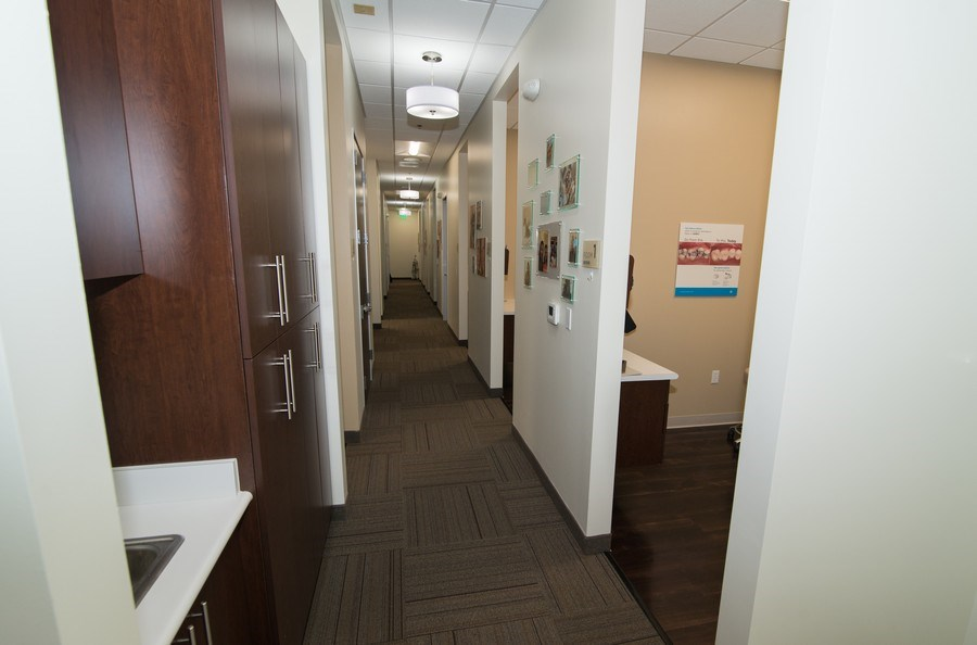 Real Estate Photography - 7540 Orangethorpe Ave, Ste A-1,Dentists of Buena Park, Buena Park, CA, 90621 - Hallway