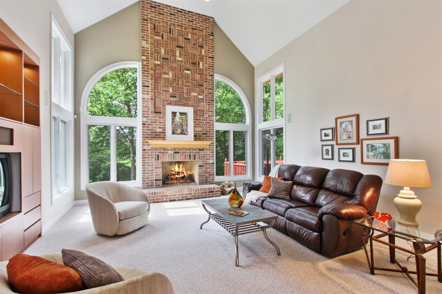 Real Estate Photography - 4442 Stonehaven Dr, Long Grove, IL, 60047 - Family Room