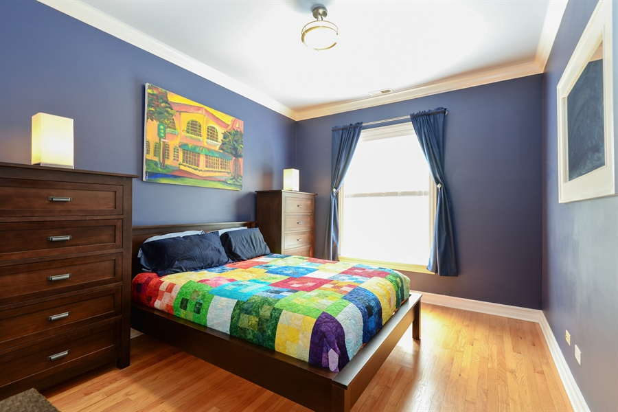 Real Estate Photography - 1426 W Lunt, unit 3 N, Chicago, IL, 60626 - Bedroom