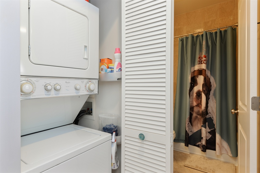 Real Estate Photography - 1426 W Lunt, unit 3 N, Chicago, IL, 60626 - Laundry Room