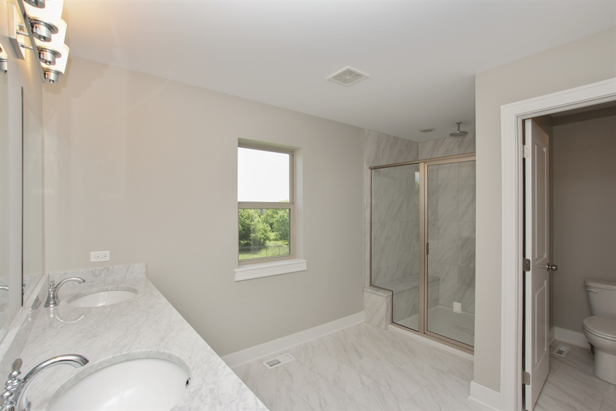 Real Estate Photography - 20964 Lee St, Shorewood, IL, 60404 - Master Bathroom
