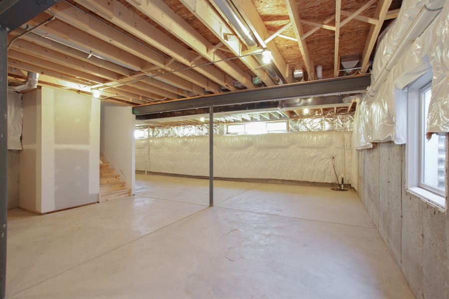 Real Estate Photography - 20964 Lee St, Shorewood, IL, 60404 - Basement
