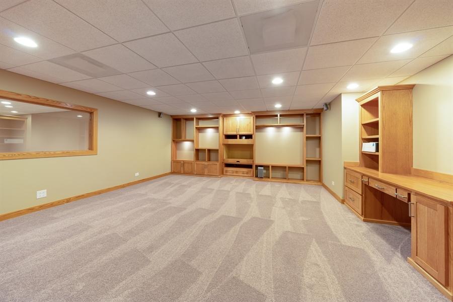 Real Estate Photography - 21333 Saddle Lane, Mokena, IL, 60448 - Media Room