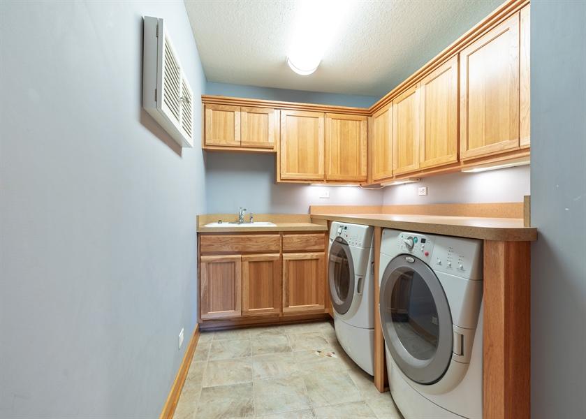 Real Estate Photography - 21333 Saddle Lane, Mokena, IL, 60448 - Laundry Room