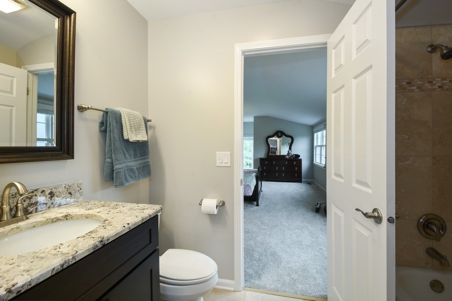 Real Estate Photography - 21345 W Williamsburg Ct, Kildeer, IL, 60047 - 3rd Bathroom