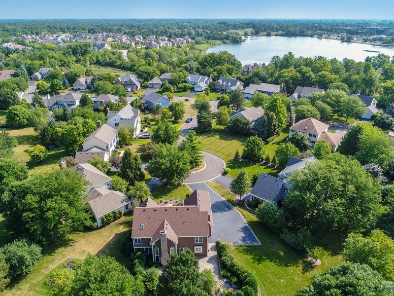 Real Estate Photography - 21345 W Williamsburg Ct, Kildeer, IL, 60047 - Aerial View