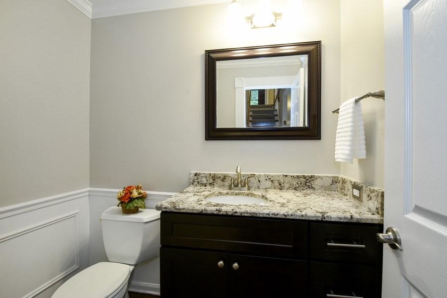 Real Estate Photography - 21345 W Williamsburg Ct, Kildeer, IL, 60047 - Powder Room