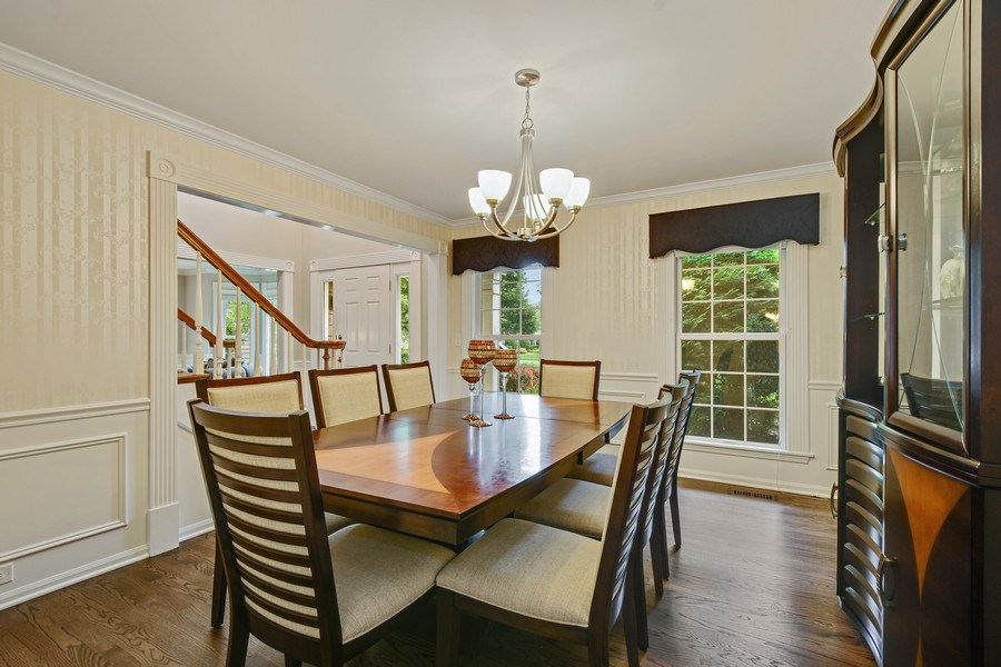 Real Estate Photography - 21345 W Williamsburg Ct, Kildeer, IL, 60047 - Dining Room