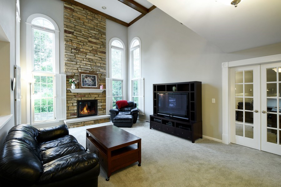 Real Estate Photography - 21345 W Williamsburg Ct, Kildeer, IL, 60047 - Family Room