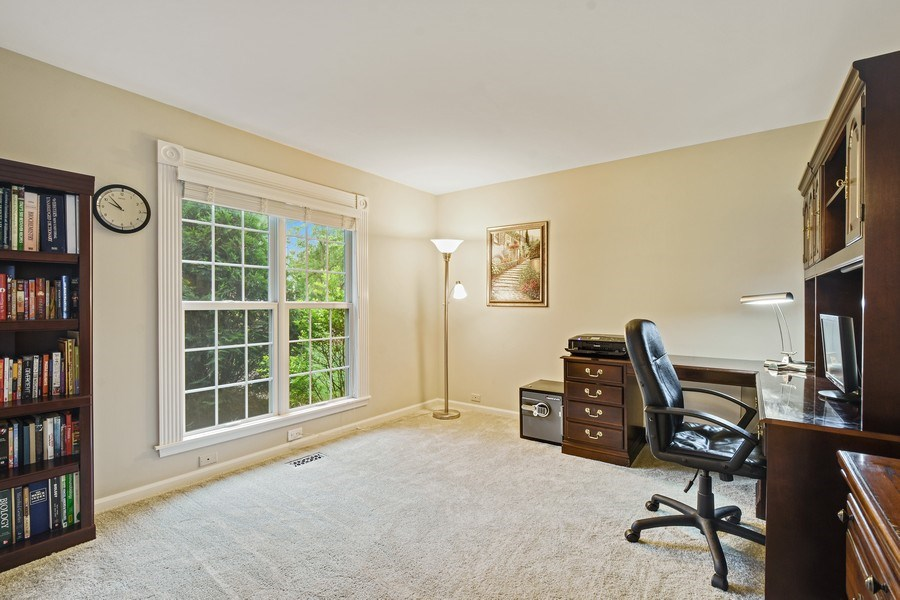 Real Estate Photography - 21345 W Williamsburg Ct, Kildeer, IL, 60047 - Office