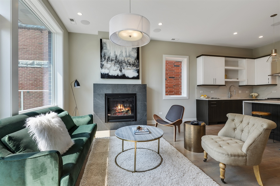 Real Estate Photography - 2649 N Mildred, Unit #3N, Chicago, IL, 60614 - Living Room
