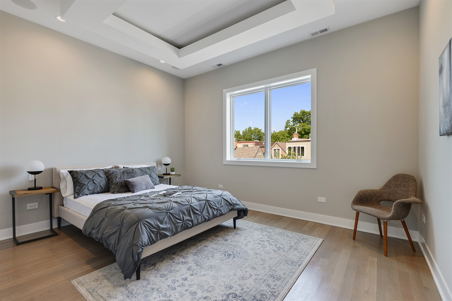 Real Estate Photography - 2649 N Mildred, Unit #3N, Chicago, IL, 60614 - Master Bedroom