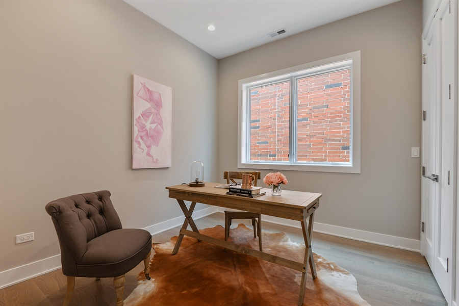 Real Estate Photography - 2649 N Mildred, Unit #3N, Chicago, IL, 60614 - Bedroom