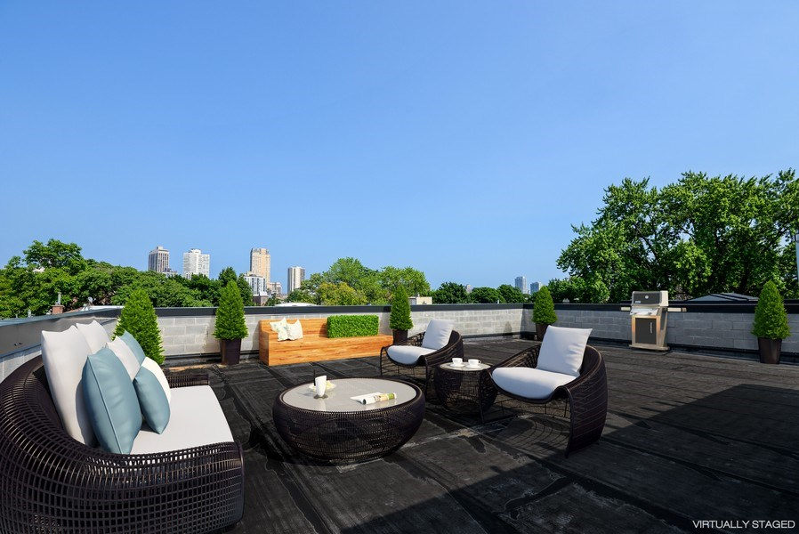 Real Estate Photography - 2649 N Mildred, Unit #3N, Chicago, IL, 60614 - Roof Deck