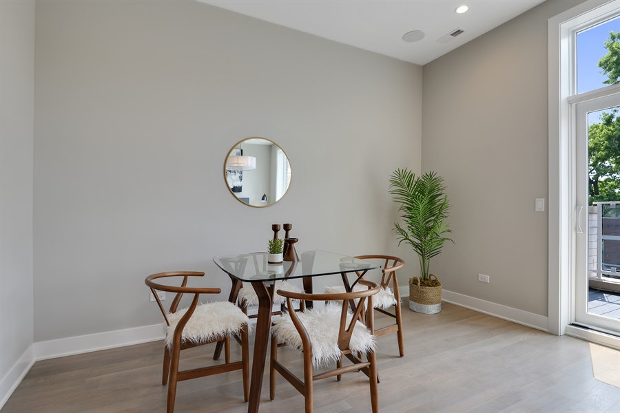 Real Estate Photography - 2649 N Mildred, Unit #3N, Chicago, IL, 60614 - Dining Area