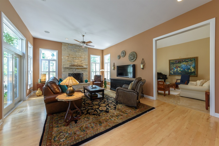 Real Estate Photography - 6322 Valley View, Long Grove, IL, 60047 - Living Rm/Family Rm