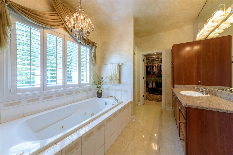 Real Estate Photography - 6322 Valley View, Long Grove, IL, 60047 - Master Bathroom