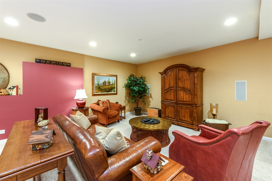 Real Estate Photography - 6322 Valley View, Long Grove, IL, 60047 - Recreational Room