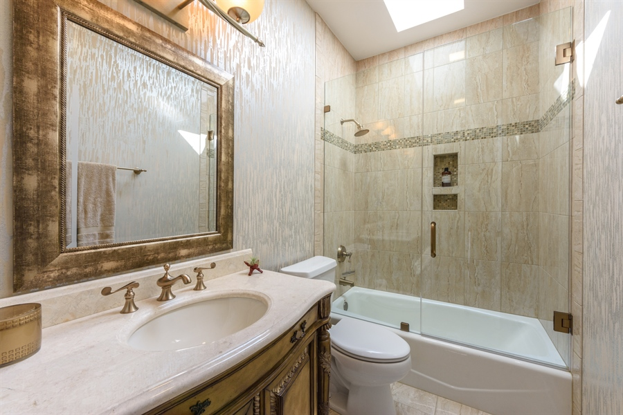 Real Estate Photography - 6322 Valley View, Long Grove, IL, 60047 - 2nd Bathroom