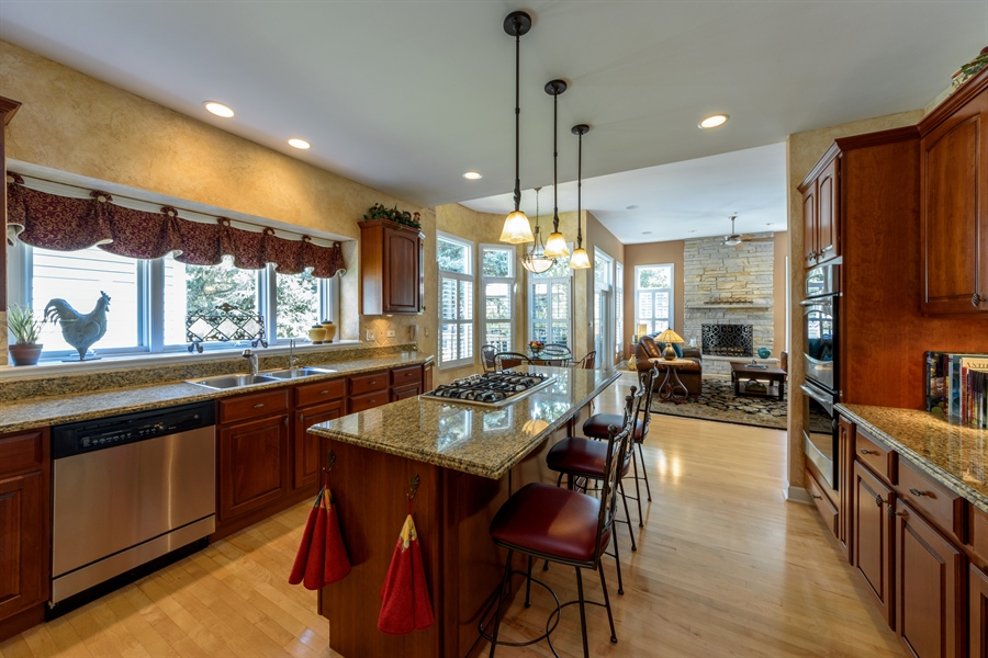 Real Estate Photography - 6322 Valley View, Long Grove, IL, 60047 - Family Room / Kitchen