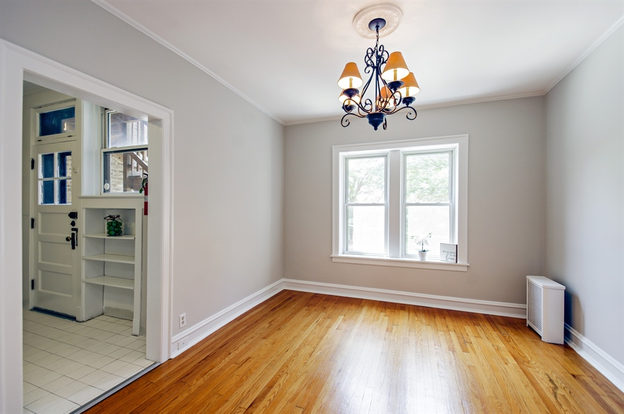 Real Estate Photography - 547 W. Addison St, Unit 2S, Chicago, IL, 60613 - Dining Room