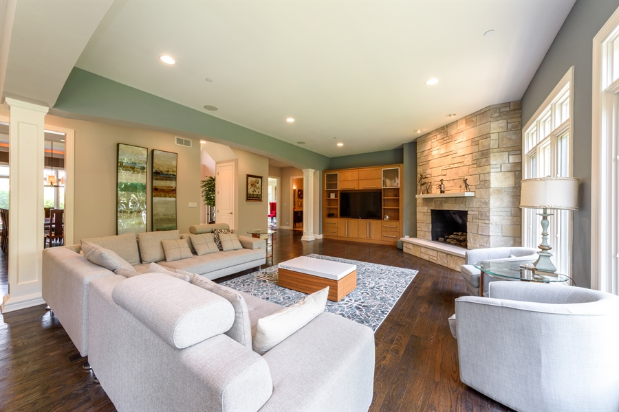 Real Estate Photography - 23175 N. Matthew, Long Grove, IL, 60047 - Family Room