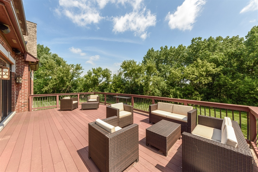 Real Estate Photography - 23175 N. Matthew, Long Grove, IL, 60047 - Deck